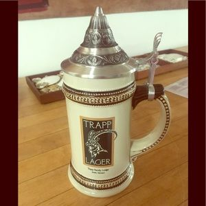 Other - Trapp Lager Beer Mug with Top